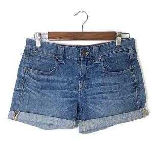 J Crew Rolled Cuff Jean Shorts   0